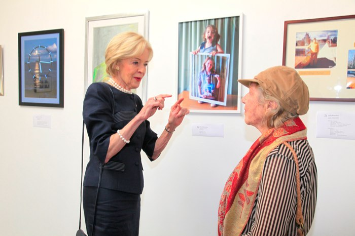 Governor-General Ms Quentin Bryce AC CVO, Rena McCawley visit TIME art exhibition